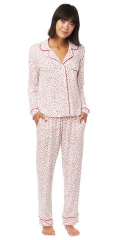 Classic Knit Pajama Set - Red Confetti