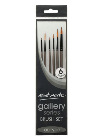 Gallery Series Brush Set Acrylic (6pc)
