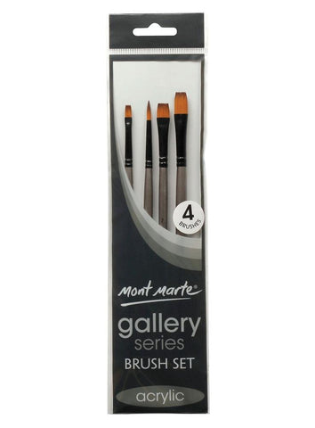 Gallery Series Brush Set Acrylic (4pc)