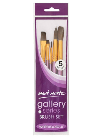 Gallery Series Brush Set Watercolor (5pc)