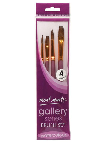 Gallery Series Brush Set Watercolor (4pc)