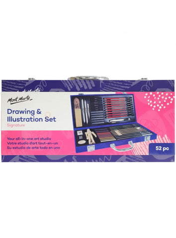 Signature Drawing and Illustration Set 52pc