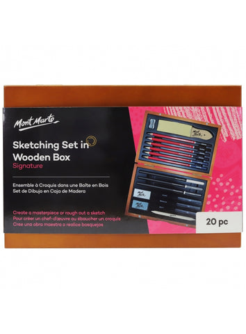 Signature Sketching Set in Wooden Box (20pc)