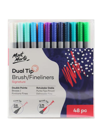 Dual Tip Brushes & Fineliners (48pc)
