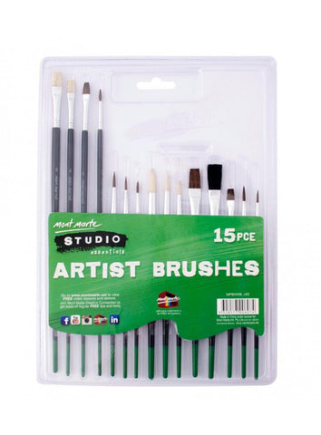 Silver Series Paint Brush Set (15pc)
