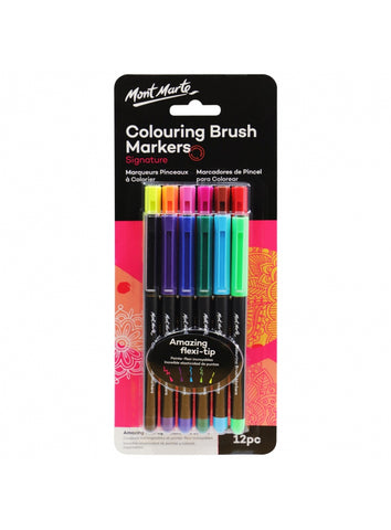 Signature Coloring Brush Markers (12pc)