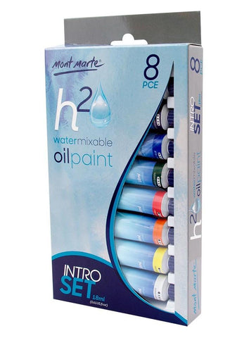 Water Mixable Oil Paint Intro Set (8pc)