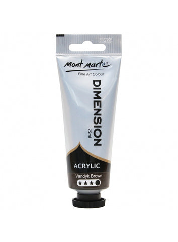 Dimension Acrylic - Van Dyke Brown (75ml)