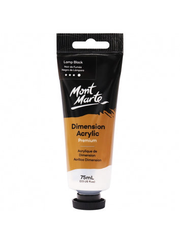 Dimension Acrylic - Lamp Black (75ml)