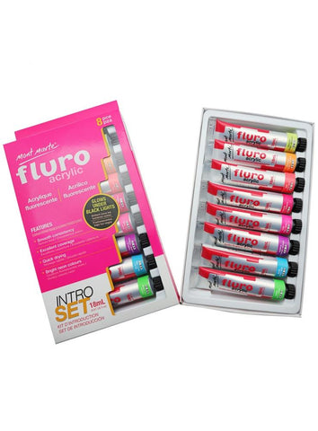 Acrylic Intro Set - Fluorescent (8pc)