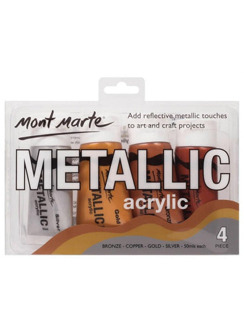 Acrylic Paint Set - Metallic (4pc)