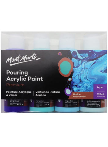 Pouring Acrylic Set - Marina (4pc/120mL each)