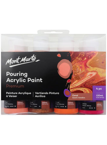Pouring Acrylic Set - Coral (4pc/120mL each)