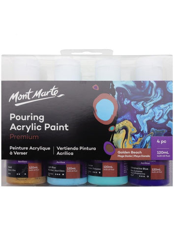 Pouring Acrylic Set - Golden Beach (4pc/120mL each)