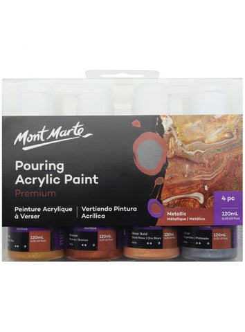 Pouring Acrylic Set - Metallic (4pc/120mL each)