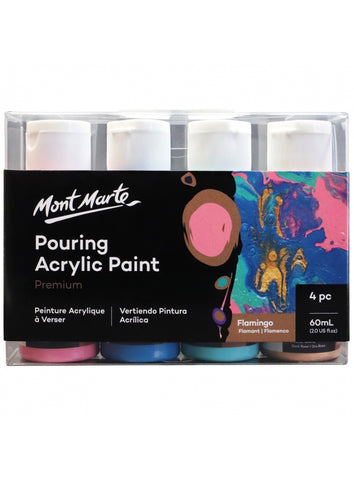 Pouring Acrylic Set - Flamingo (4pc/60mL each)