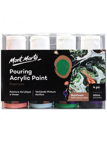 Pouring Acrylic Set - Rainforest (4pc/60mL each)