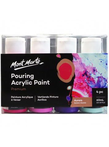Pouring Acrylic Set - Aurora (4pc/60mL each)