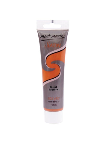 Satin Acrylic - Burnt Sienna (100ml)
