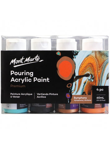 Pouring Acrylic Set - Symphony (4pc/60mL each)