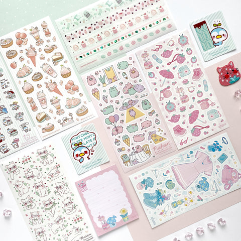 March 2021 Cute Pack: Pink & Mint