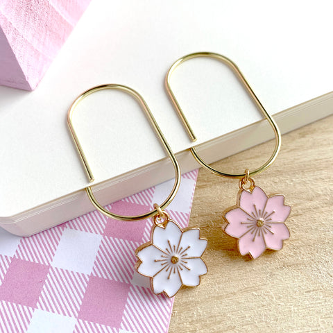 Large Sakura Bookmarks/ Paperclips