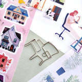 stay home furniture house sticker sheet pack