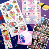 sticker sheet pack set gift japan tokyo notepad patch bookmark