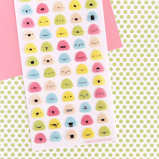 emotional expression mochi sticker sheet