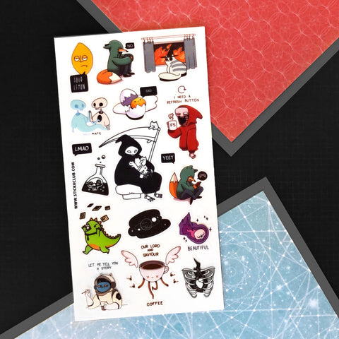 grim reaper meme sticker sheet
