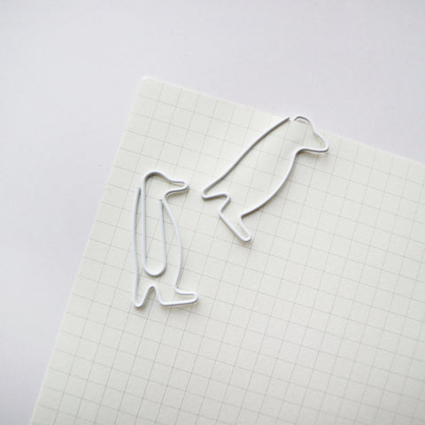 white penguin paperclips
