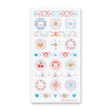 patterned cat animals sticker sheet