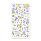 purple yellow mermaid underwater sticker sheet