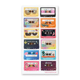 music cassette tape sticker sheet