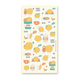 chocolate chip cookie snack milk sticker sheet