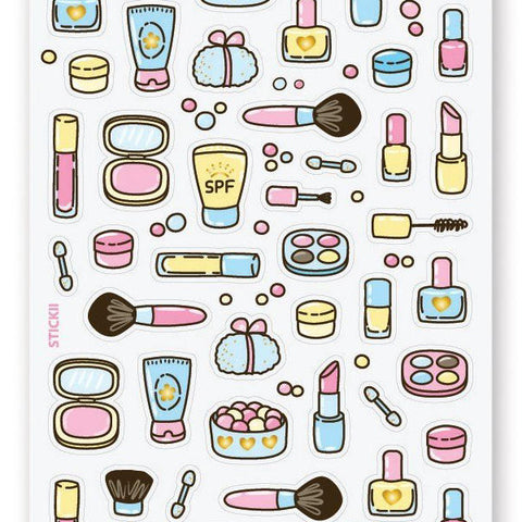 makeup beauty sticker sheet