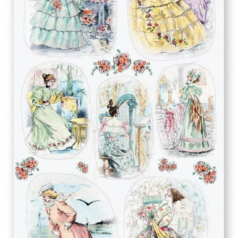 victorian dress sticker sheet