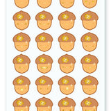 Cute acorn fall sticker sheet