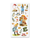 alice in wonderland vintage sticker sheet