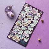 pusheen dragon dragonsheen fairy tale story cat neko sticker sheet