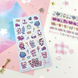 fairy tale storybook frog wolf pig rose sticker sheet