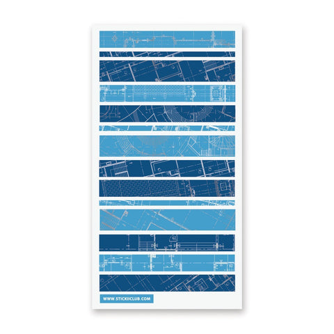 Blueprint Washi Strips