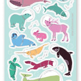 marine animal helmet space astronaut sticker sheet