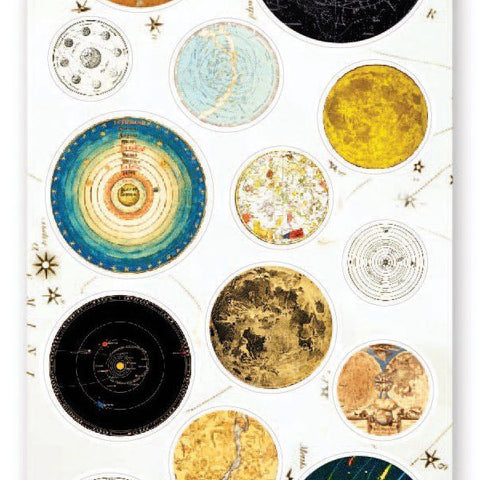 space astronomy stars planets sticker sheet