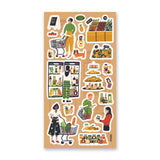 grocery market produce shopping sticker sheet