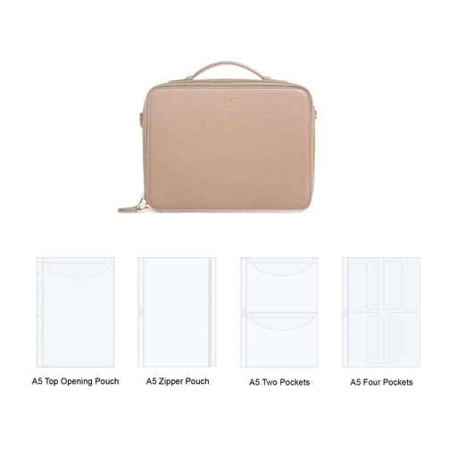 stationery journal bujo organizer storage bag zipper