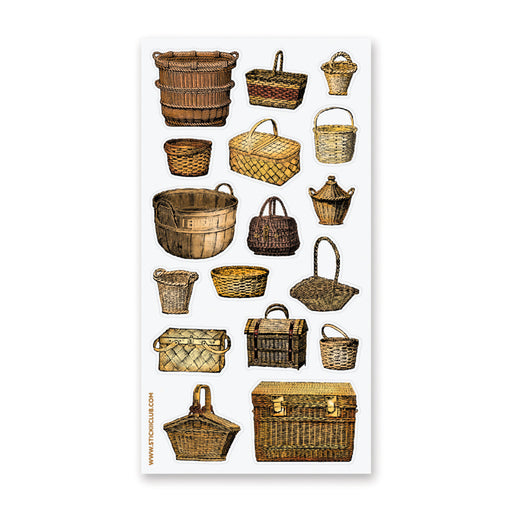 basket woven picnic sticker sheet