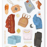 western autumn outfits clothes fashion sticker sheet