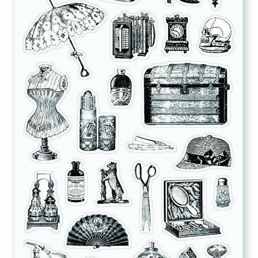victorian fashion and items sticker sheet