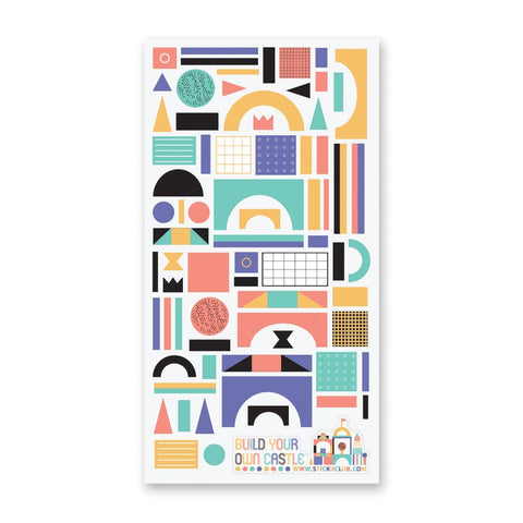 building blocks sticker sheet
